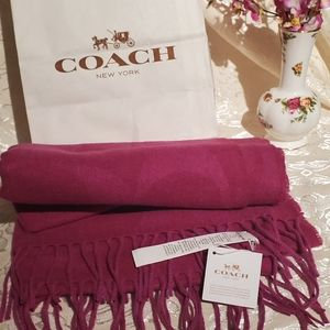 Authentic new Coach  scarf
